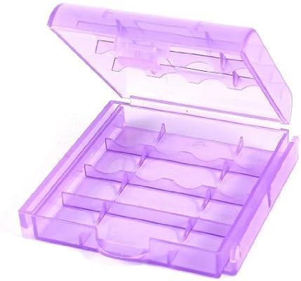 Caja de almacenamiento Organizador púrpura claro de plástico de componentes electrónicos