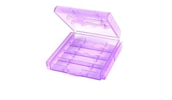 Caja de almacenamiento Organizador púrpura claro de plástico de componentes electrónicos - - Amazon.com