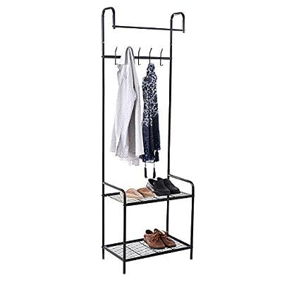 New Clothes Hanger & Shoe Racks Organizer in Black