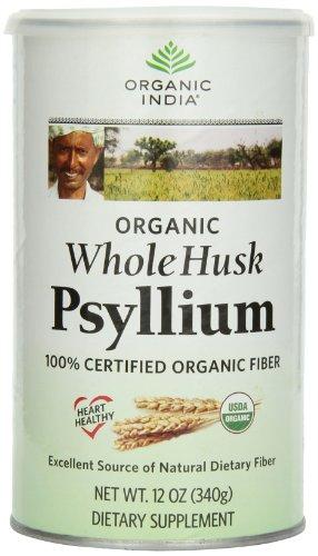 Organic Whole Psyllium Husk l'Inde, de 12 onces