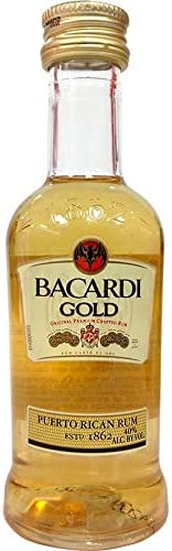 Miniatura ron Bacardi Gold 10 botellas de 50ml: Amazon.es ...
