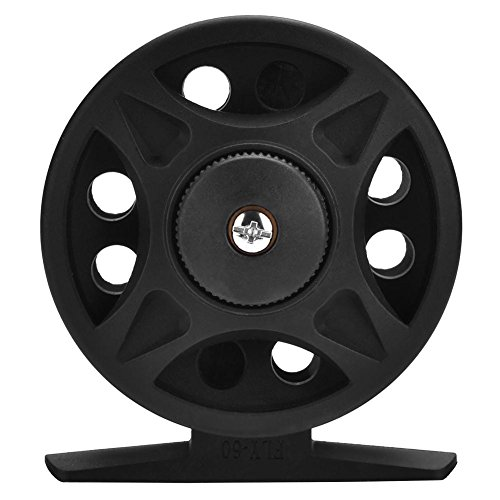 VGEBY 2+1BB Fly Reel Left and Right Hand Fly Fishing Reel Wheel Interchangeable Die Casting Fly Reel Fishing Reel(60-Black)