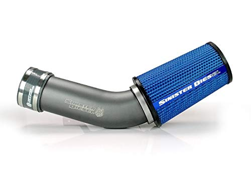 Sinister Diesel Cold Air Intake for 1999-2003 Ford Powerstroke 7.3L (Gray) (2000 Ford F250 Cold Air Intake)