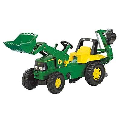 Rolly John Deere Backhoe Loader Ride On: Toys & Games