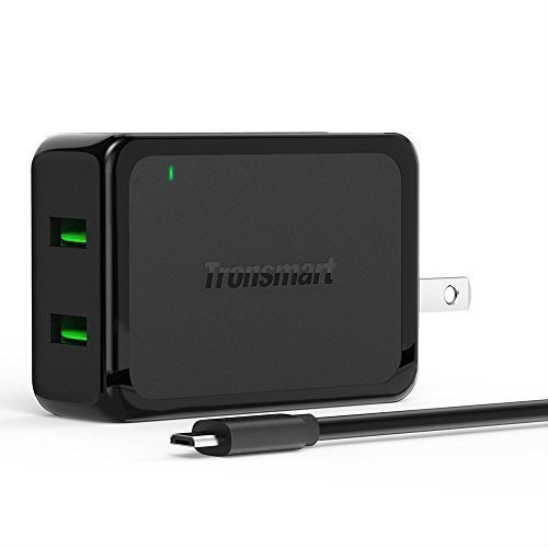 Tronsmart 4.8A Dual USB Wall Charger with Quick...
