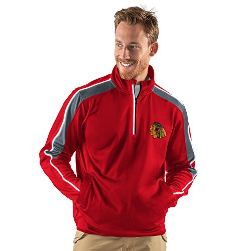 G-III Sports NHL Chicago Blackhawks Men's Synergy Half Zip Pullover Jacket, Small, Red