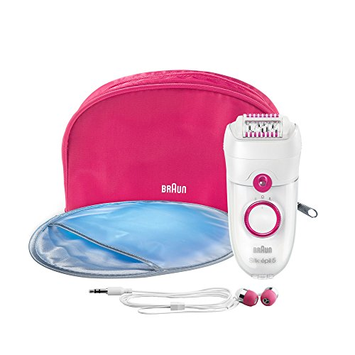 (Braun 5187 Silk-Epil 5 Music Edition Electric Hair Removal Epilator with Extra Earphones)