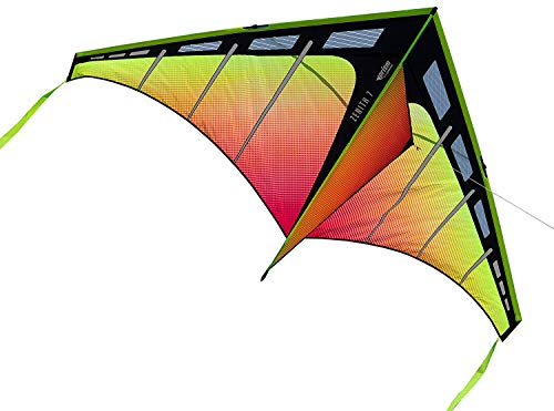 Prism Kite Technology Zenith 7 Infrared Single Line Kite, Ready to Fly with line, Winder and Travel Sleeve
