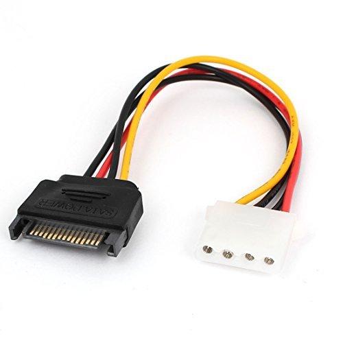 eDealMax SATA Hard Drive 4 pin IDE Maschio a 15 Pin cavo maschio Cavo di alimentazione by eDealMax (Image #1)