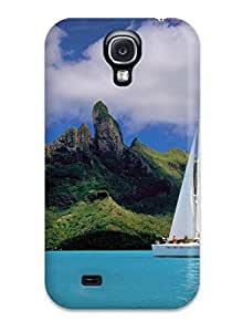 Best Galaxy S4 Hard Back With Bumper Silicone Gel Tpu Case Cover Bora Bora