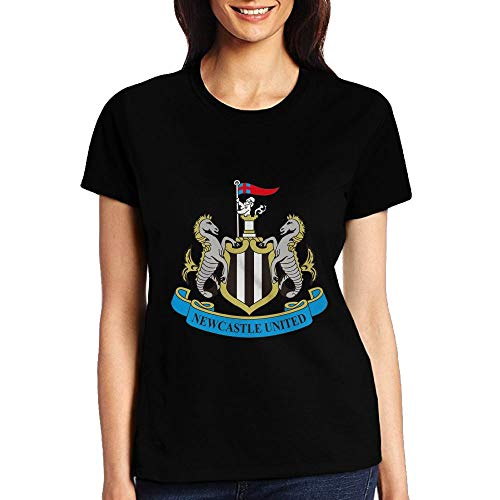 SakanpoPremier League Badge Womens O-Neck Cotton Graphic T-Shirt Black - Vest Cathedral Thermal