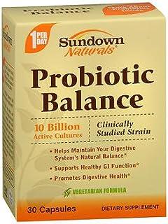 Sundown Naturals Probiotic Balance Vegetarian Formula Capsules - 30 ct, Pack of 3
