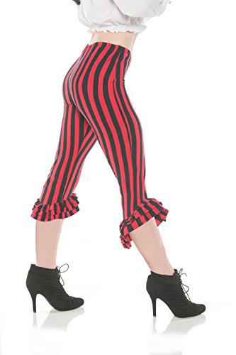 me Ruffle Leggings - Red & Black, X-Large (Pirate Leggings)