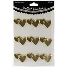 Bella! Wedding Hearts Foil Stickers-Gold