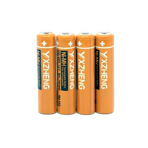 - YXZHENG 4 x AAA Battery HHR-4DPA for Panasonic Cordless Phone 1.2V 700mAh Original New Rechargeable NI-MH