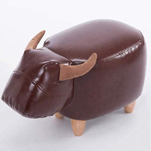 Animal Shape Footstools, Ottomans Padded,Cushion Footstool,Stool Rest Seat Sofa Chair (Brown Hippopotamus),D (Sofa Hippopotamus)