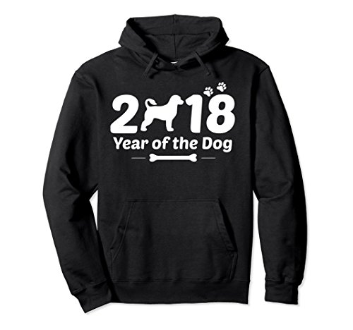 Sweatshirt Portuguese Water (Unisex Portuguese Water Dog Hoodie 2018 Chinese Year of The Dog XL: Black)