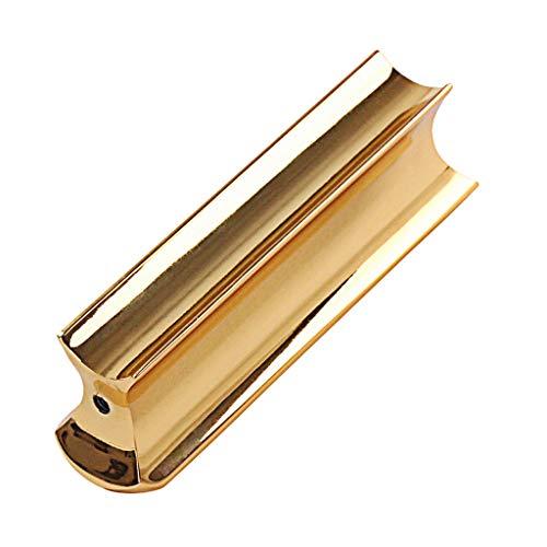 Gold Stainless Steel Guitar Slide Tone Bar for Dobro, Lap Steel Guitar, Hawaiian Guitar, Electric Guitar Accessories ()