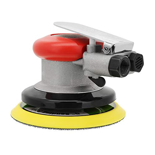 Valianto 5'' Air Random Orbital Palm Sander, Dual Action Professional Pneumatic Sander with Speed Regulation ()