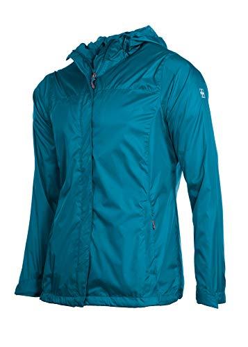 - Swiss Alps Womens Wind Resistant Lightweight Rain Jacket, Cove Teal, L