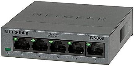 GS105NA Desktop NETGEAR 5-Port Gigabit Ethernet Unmanaged Switch ProSAFE Lifetime Protection Plug-and-Play Sturdy Metal