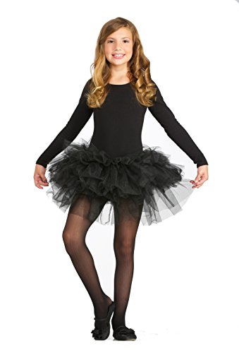 Forum Novelties Kids Fluffy Tutu Costume, Black, One (Costume Box Black Tutu)