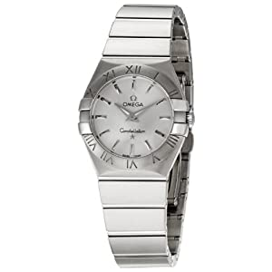 Omega Women's 123.10.27.60.02.001 Constellation Silver Dial Watch