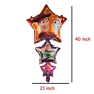 13Pcs Toy Story Balloons, Woody and Buzz Lightyear Birthday Party Supplies for Kids Baby Shower Party Decorations