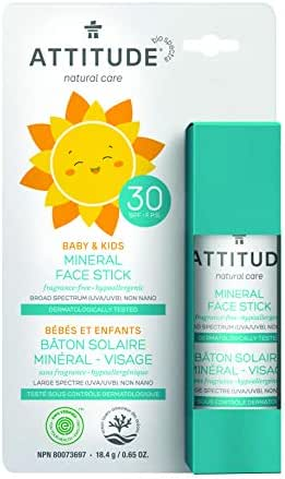 Sunscreen & Tanning: Attitude Mineral Sunscreen Baby & Kids