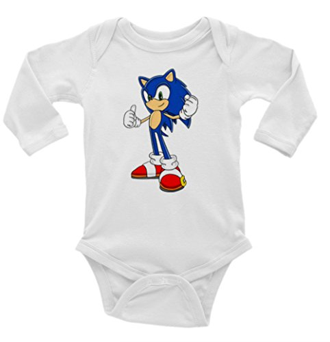 Sonic the Hedghog Long Sleeve Unisex Onesie (3-6)