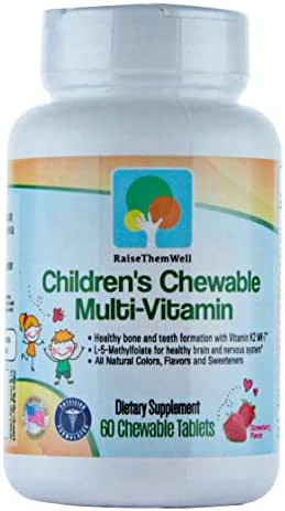 Children's Chewable Multivitamin with All-Natural Colors, Flavors, and Sweeteners.