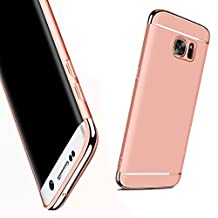 For Galaxy NOTE 5 Case,JOBSS Hybrid Luxury Shockproof Armor Back Ultra-thin Case Cover Removable case for Samsung Galaxy NOTE 5 Rose Gold