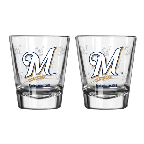 MLB Milwaukee Brewers Boelter Shot Glasses ()