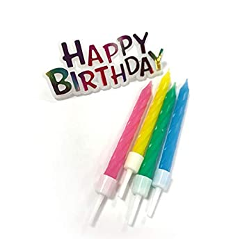 Partygram - 12 Velas de Cumpleaños Happy Birthday- Colores ...