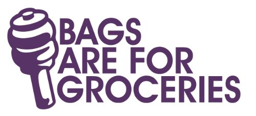 Bags are for groceries Decal Size:7,9x 3,45