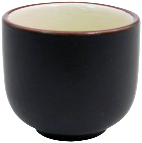 CAC China 666-WC-W Japanese Style 2-Inch Creamy White Sake Cup, 1.5-Ounce, Box of 72 by CAC China