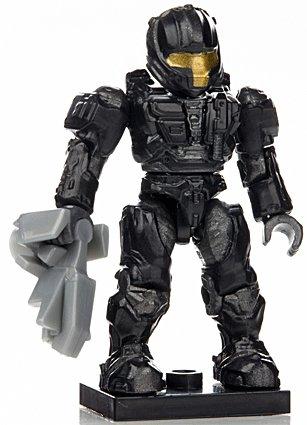 Halo Wars Mega Bloks LOOSE Mini Black & Gray UNSC Spartan CQB with Sentinel Beam [Series 7]