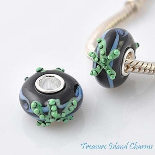 Starfish LAMPWORK Murano Glass .925 European Bead Charm (Starfish Murano Glass Earrings)