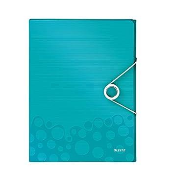 Acquamarina Formato A4 Leitz 46290051 Polipropilene Dorso 3 cm Cartella progetti WOW Chiusura a elastico