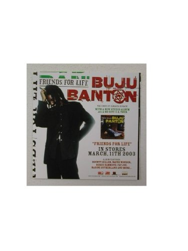 Buju Banton Promo Sticker Friends for - Art Photo Promo