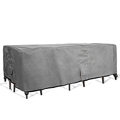 KHOMO GEAR TITAN Series - Patio Table & Chair Set Cover - Durable and Water Resistant Outdoor Furniture Cover, Extra Large