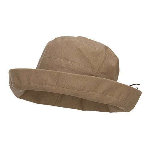 Women's Upturned Crushable Hat - Tan OSFM