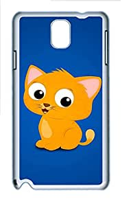 Samsung Galaxy Note 3 N9000 Cases & Covers - Cute Cartoon Cat Custom PC Soft Case Cover Protector for Samsung Galaxy Note 3 N9000 - White