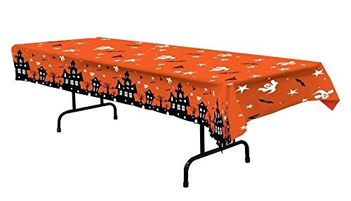Party Central Club Pack of 12 Haunted House, Bats & Ghosts Halloween Banquet Table Covers 108
