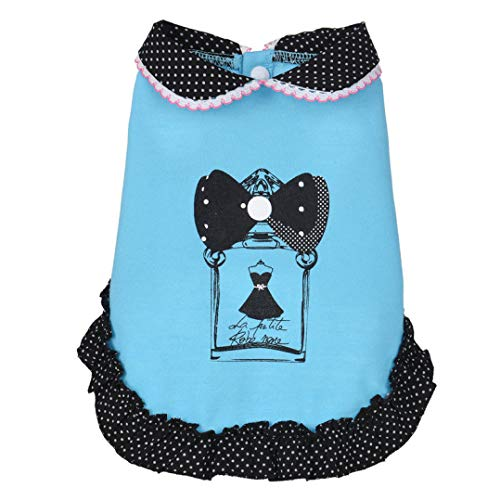 LVYING Super Cute Dog Dress Pet Spring Summer Doll Polo Collar Skirt Costumes Clothes Puppy -