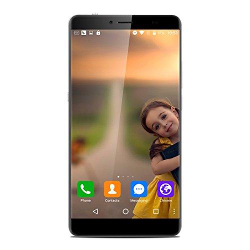 Bluboo Maya Max 6.0 Zoll 4G-LTE-Smartphone Android 6.0 Dual SIM Octa-core 3GB RAM + 32GB 1.5GHz HD Display 13.0MP + 5.0MP Dual Kamera 4200mAh Akku GPS WIFI OTG CAT6 Rear-Fingerprint Identification Grau