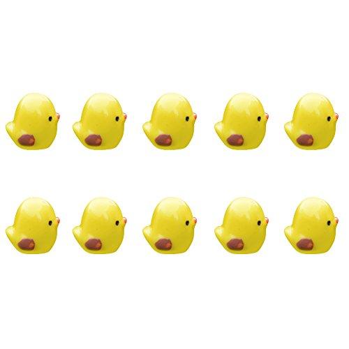 Wansan10 Pcs Miniature Chickens Chicken Nest Ornament Micro Landscape Fairy Garden Decor Yellow for $<!--$1.15-->