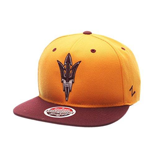 船尾七時半トランスミッションZephyrメンズArizona State Sun Devils z11 Zwool帽子ゴールドAdj