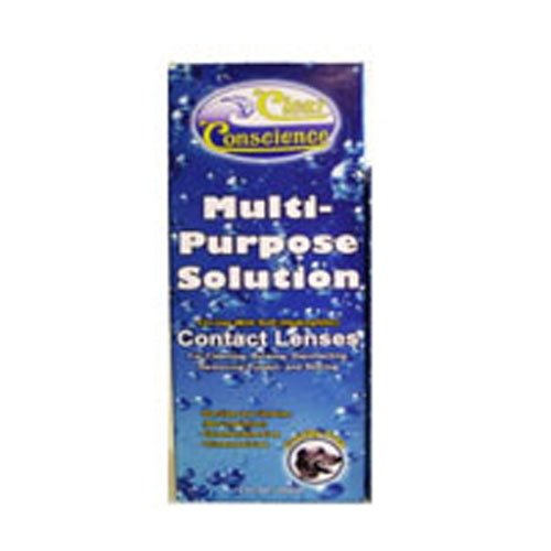 Clear Conscience Multi-Purpose Solution for Contact Lenses, 12 oz, Pack of 2