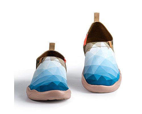 Uin Heren Ochtend Oringinal Ontwerp Canvas Loafer Shoe Blauwe Kleur